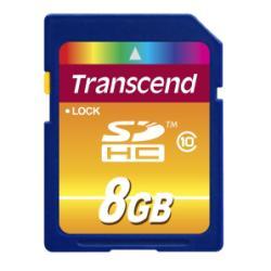 SCHEDA MEMORIA MICRO SDTRASCEND 8GB TS8G SDHC10